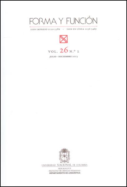 Forma y función Vol. 26 No. 2