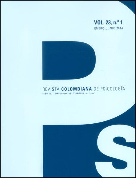 Revista colombiana de psicología. Vol 23. No. 1