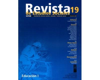 Revista de Estudios Sociales No. 19. Educación (I)