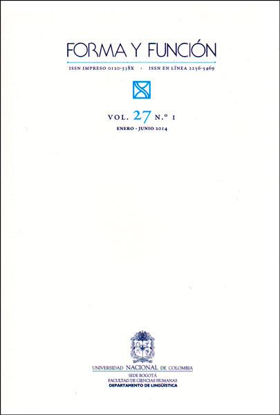 Forma y función Vol. 27 No. 1