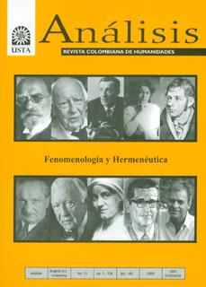 Análisis. Revista colombiana de humanidades No. 75. Fenomenología y Hermenéutica