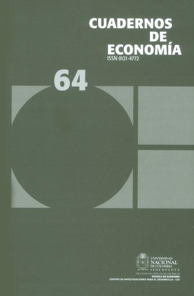 Cuadernos de economía No. 64