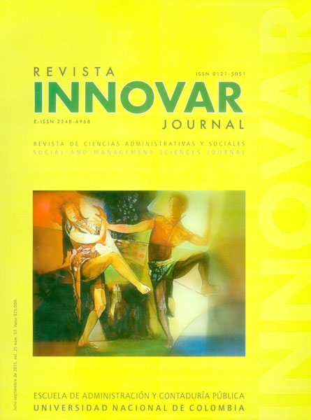 Innovar no. 57, vol. 25. Revista de ciencias administrativas y sociales