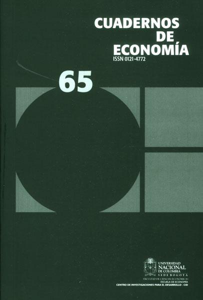 Cuadernos de economía. No. 65