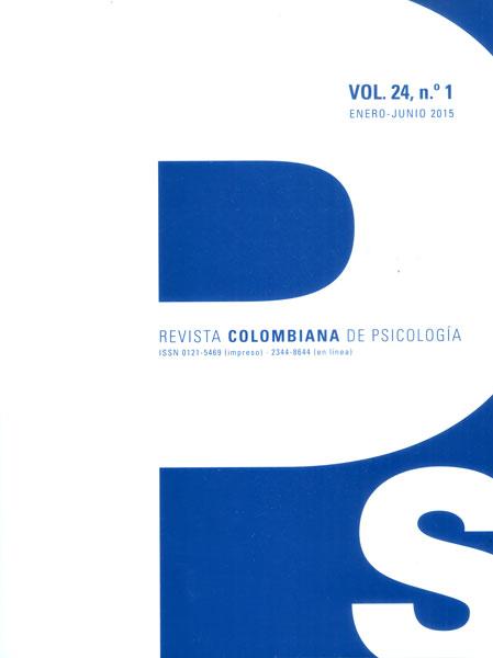 Revista colombiana de psicología. Vol 24. No. 1