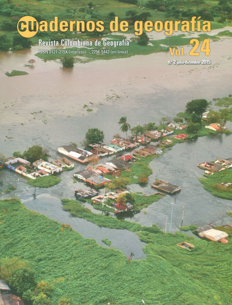 Cuadernos de geografía. Revista colombiana de Geografía Vol. 24 No. 2