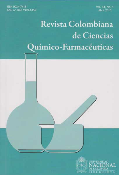 Revista Colombiana de Ciencias Químico-farmacéuticas.  Vol. 44. No.1