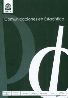 Revista Comunicaciones en estadística Vol. 3 No. 2