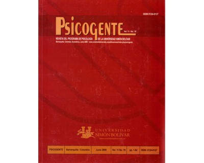 Revista Psicogente Vol. 11 No. 19