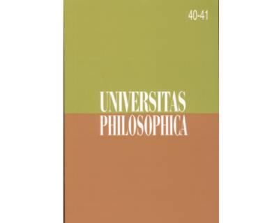 Universitas Philosophica No. 40 - 41
