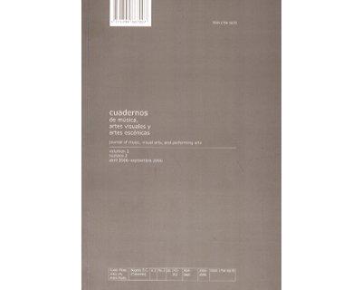 Cuadernos de música, artes visuales y artes escénicas. Vol 2 No. 2