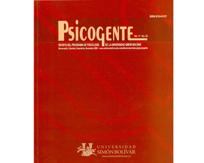 Revista Psicogente Vol. 11 No. 20