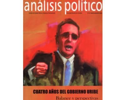 Análisis político No. 57. Cuatro años del gobierno Uribe: Balance y perspectivas