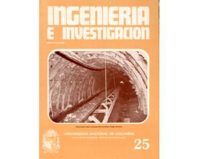 Ingeniería e Investigación No. 25