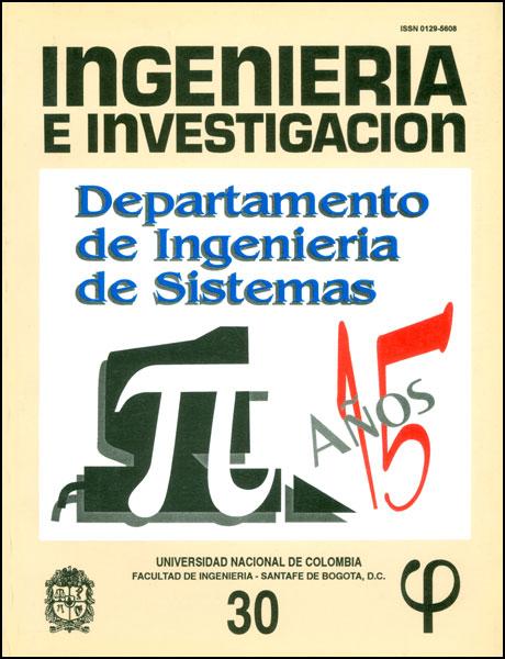 Ingeniería e Investigación No. 30