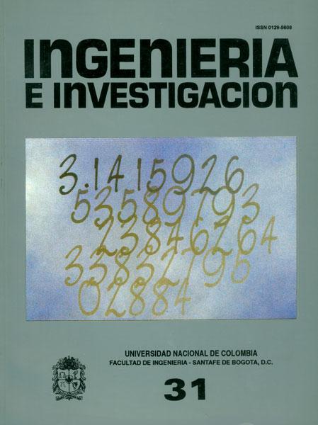 Ingeniería e Investigación No. 31