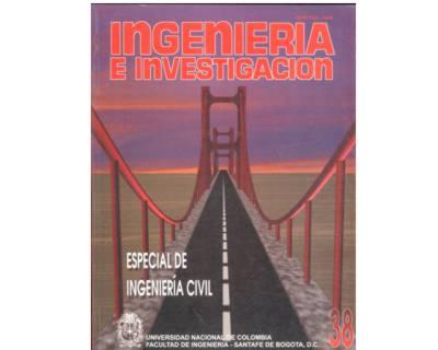 Ingeniería e Investigación No. 38. Especial de Ingeniería Civil