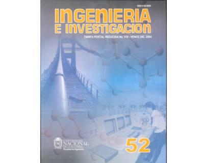 Ingeniería e Investigación No. 52