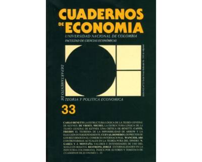 Cuadernos de Economía No. 33