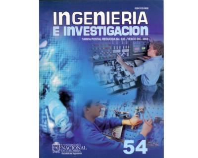 Ingeniería e Investigación No. 54