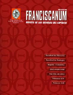 Franciscanum Vol. LIV No. 158. Revista de las ciencias del espíritu