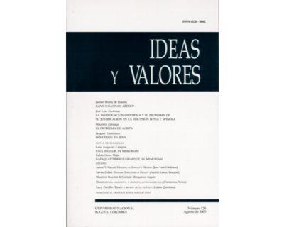 Ideas y Valores. Revista Colombiana de Filosofía. No. 128