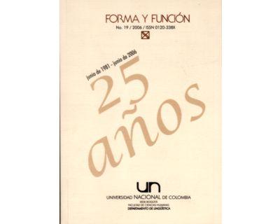 Forma y Función No. 19
