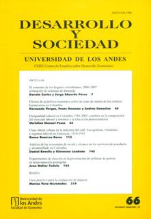 Desarrollo y Sociedad No. 67.