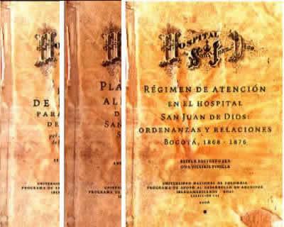 Colección Historia Clínica del Hospital San Juan de Dios. 3 tomos