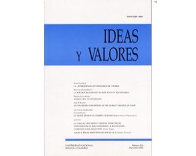 Ideas y Valores. Revista Colombiana de Filosofía. No. 126