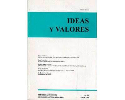 Ideas y Valores. Revista Colombiana de Filosofía. No. 094