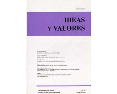 Ideas y Valores. Revista Colombiana de Filosofía. No. 095