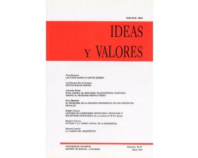 Ideas y Valores. Revista Colombiana de Filosofía. No. 096 y 097