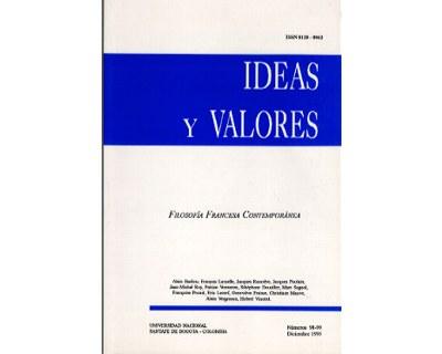 Ideas y Valores. Revista Colombiana de Filosofía. No. 098 y 099