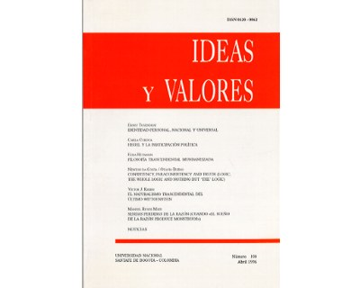 Ideas y Valores. Revista Colombiana de Filosofía. No. 100