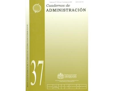 Cuadernos de Administración. No. 37 Vol. 21