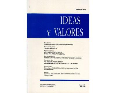 Ideas y Valores. Revista Colombiana de Filosofía. No. 109