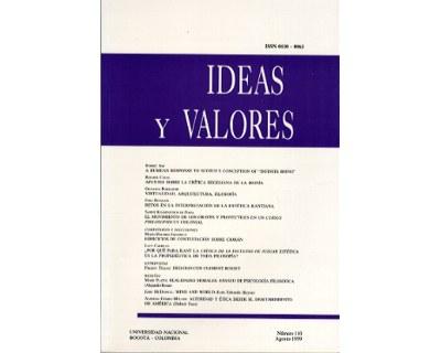 Ideas y Valores. Revista Colombiana de Filosofía. No. 110