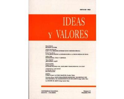 Ideas y Valores. Revista Colombiana de Filosofía. No. 111