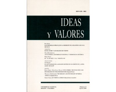 Ideas y Valores. Revista Colombiana de Filosofía. No. 113
