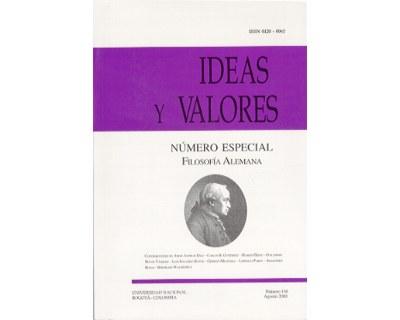 Ideas y Valores. Revista Colombiana de Filosofía. No. 116 (Número especial filosofía alemana)