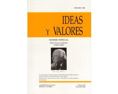 Ideas y Valores. Revista Colombiana de Filosofía. No. 120 (Número especial. Hans-Georg Gadamer 1900-2002)