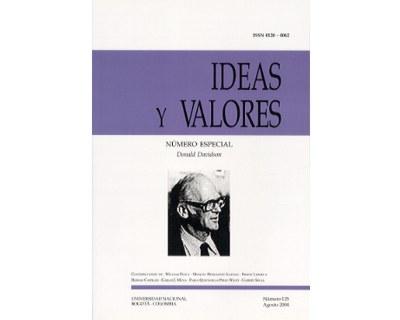 Ideas y Valores. Revista Colombiana de Filosofía. No. 125 (Número especial. Donald Davidson)