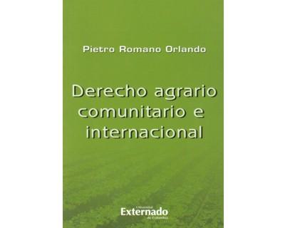 Derecho agrario comunitario e internacional