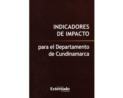 Indicadores de impacto (para el departamento de Cundinamarca)