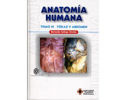 Compra Anatomía Humana. Tomo III. Tórax Y Abdomen - Bernardo Gallego ...
