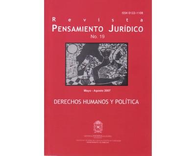 Pensamiento Jurídico No. 19. Derechos Humanos y Política