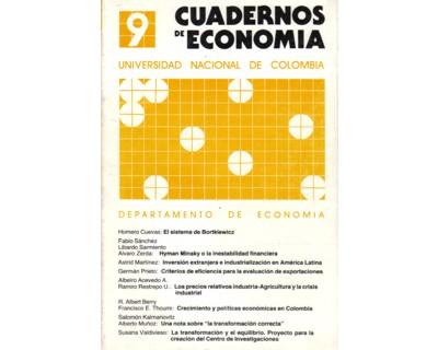 Cuadernos de Economía No. 09