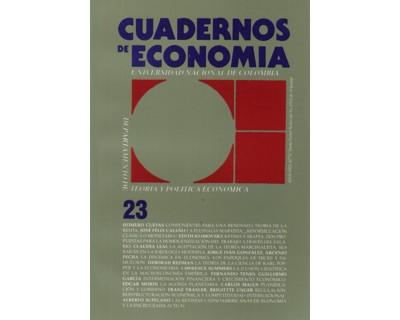 Cuadernos de Economía No. 23