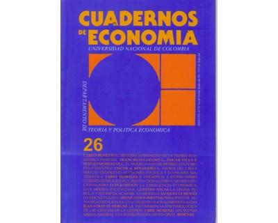 Cuadernos de Economía No. 26